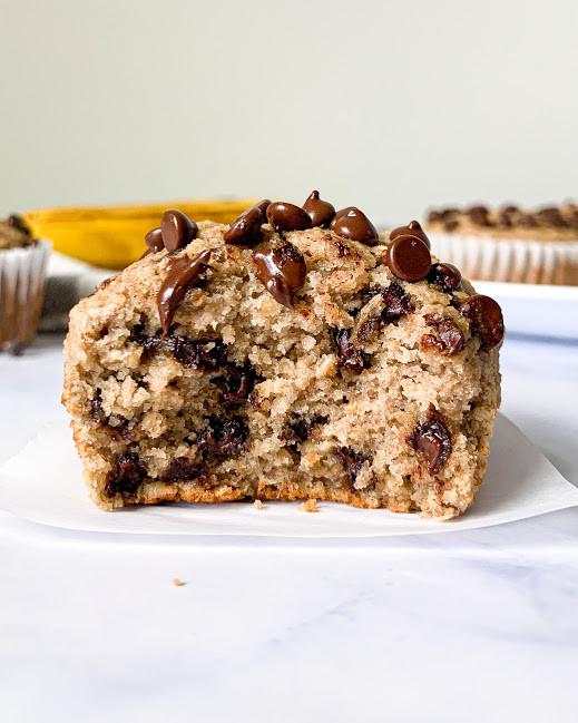 Vegan Chocolate Chip Banana Bread Muffins Gf Oil Free Wholesome Crumbs